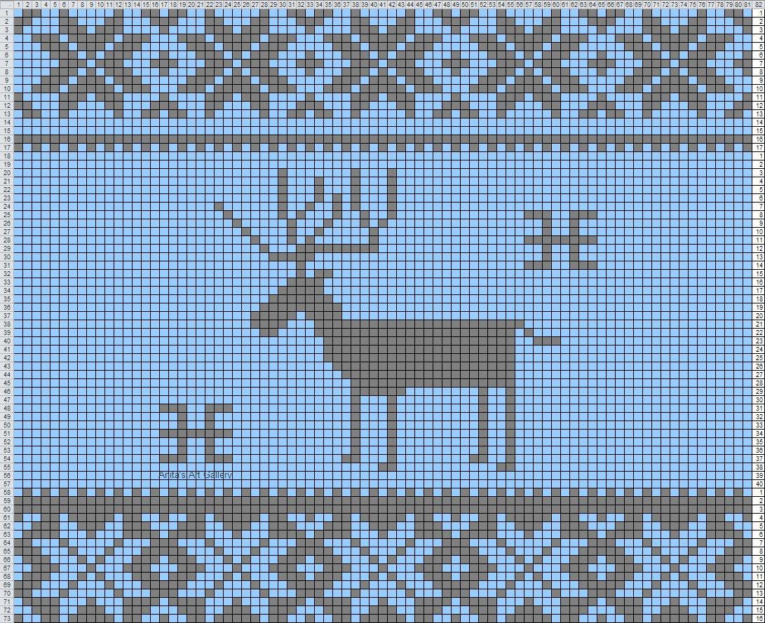 схема норвежских узоров олени