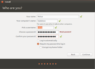 Username dan password Ubuntu 13.04