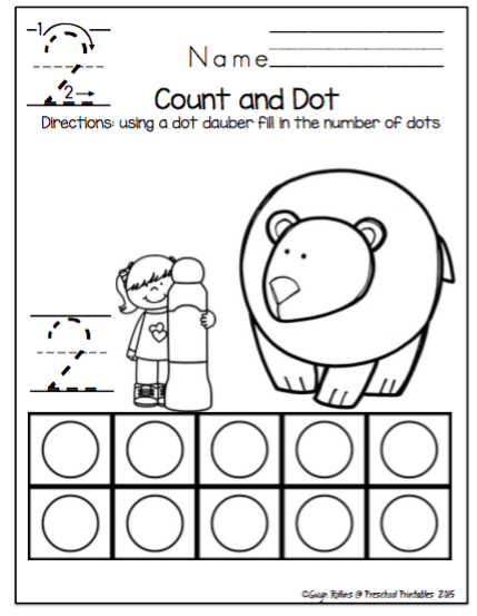 polar bear number worksheets 1 10 no prep preschool printables. Black Bedroom Furniture Sets. Home Design Ideas