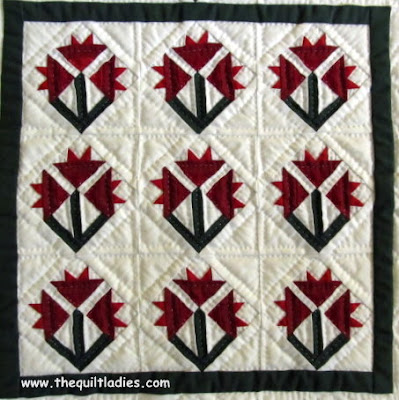 Red and White Flower Quilt from my Sewing Room
