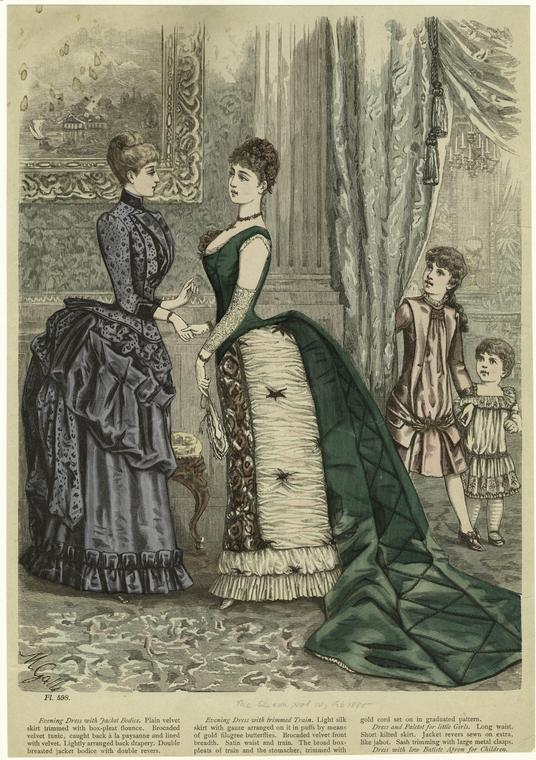 Victorian Dresses Anime Girls Inelegant