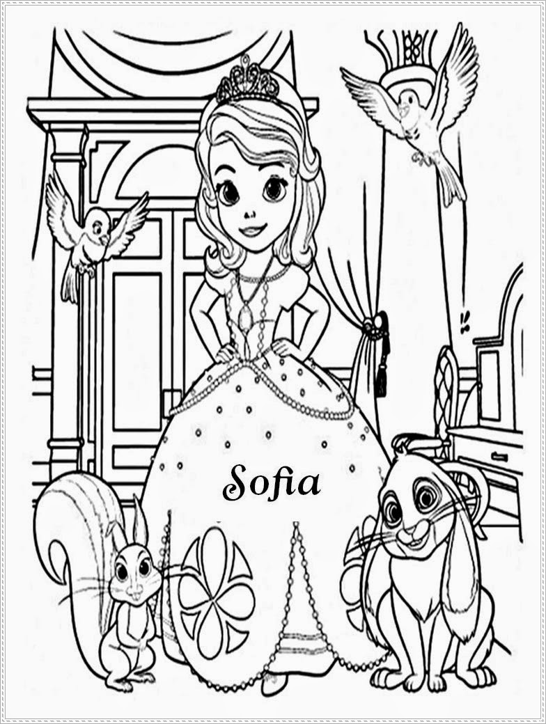 sofia the first and james free colouring pages Disney Princess Coloring Pages  Princess Sofia Coloring Book