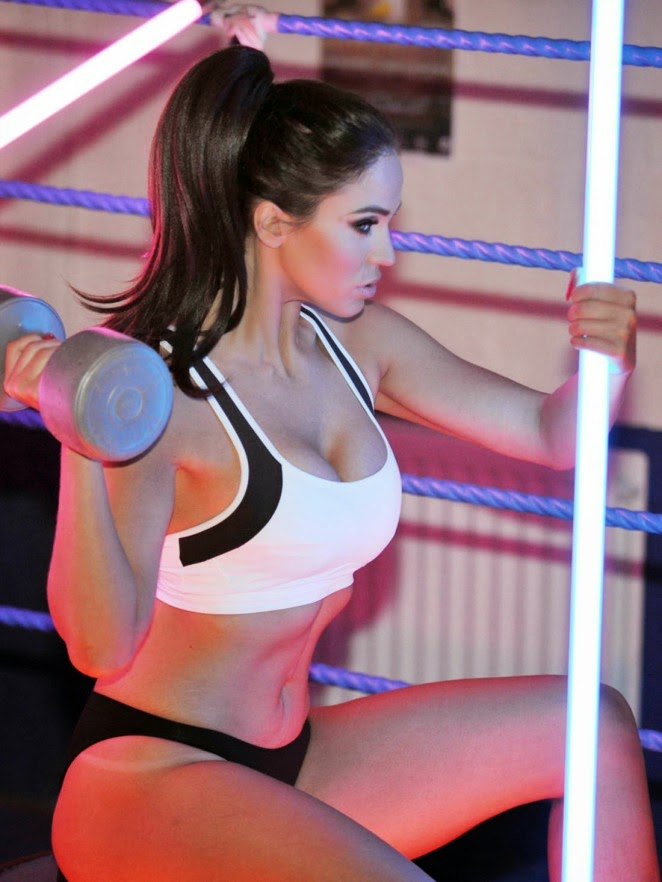 Vicky Pattison shows toned figure in a sports bra for fitness photoshoot