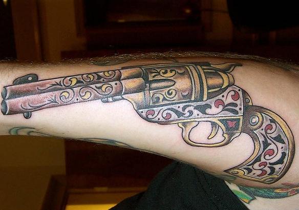 Jersey tattoo tattoo guns for Tattoo of guns
