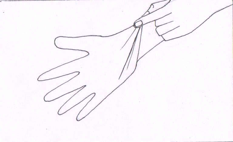 Rubber Gloves Drawing Pair of Rubber Gloves And