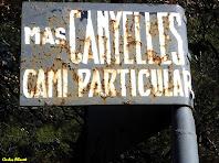 Indicador del Mas Canyelles. Autor: Carlos Albacete