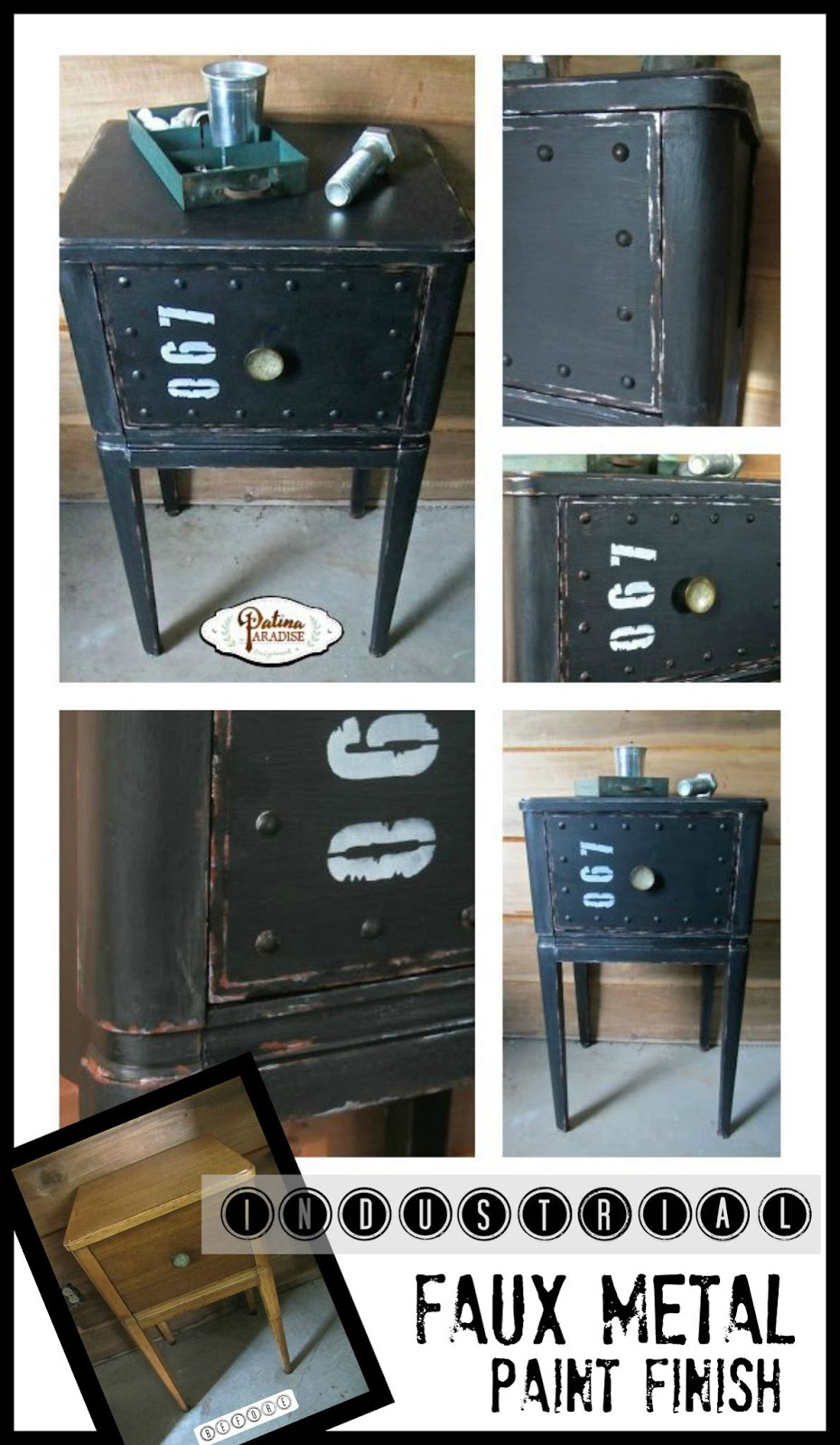 How To Make Industrial Furniture #18: Patina Paradise