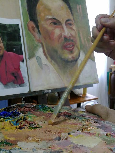 oleo sobre lienzo,retrato