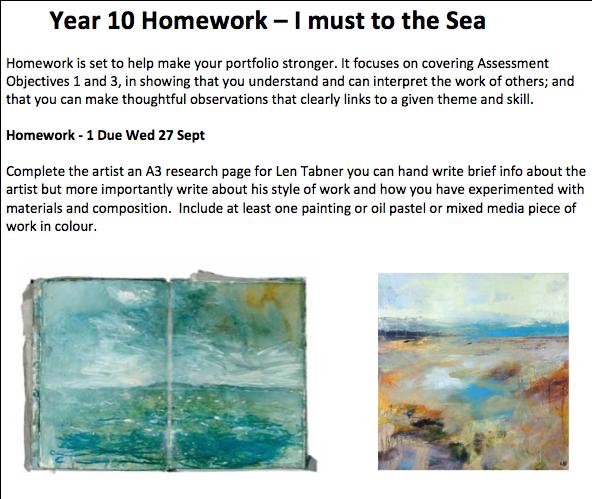 Industrial Style Len gcse y10 len tabner seascapes homework