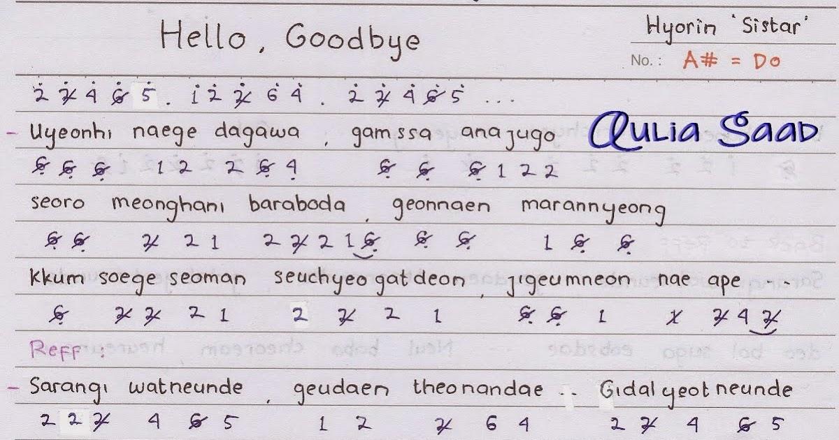 not angka : hyorin (sistar) - hello, goodbye (ost. my love from ...