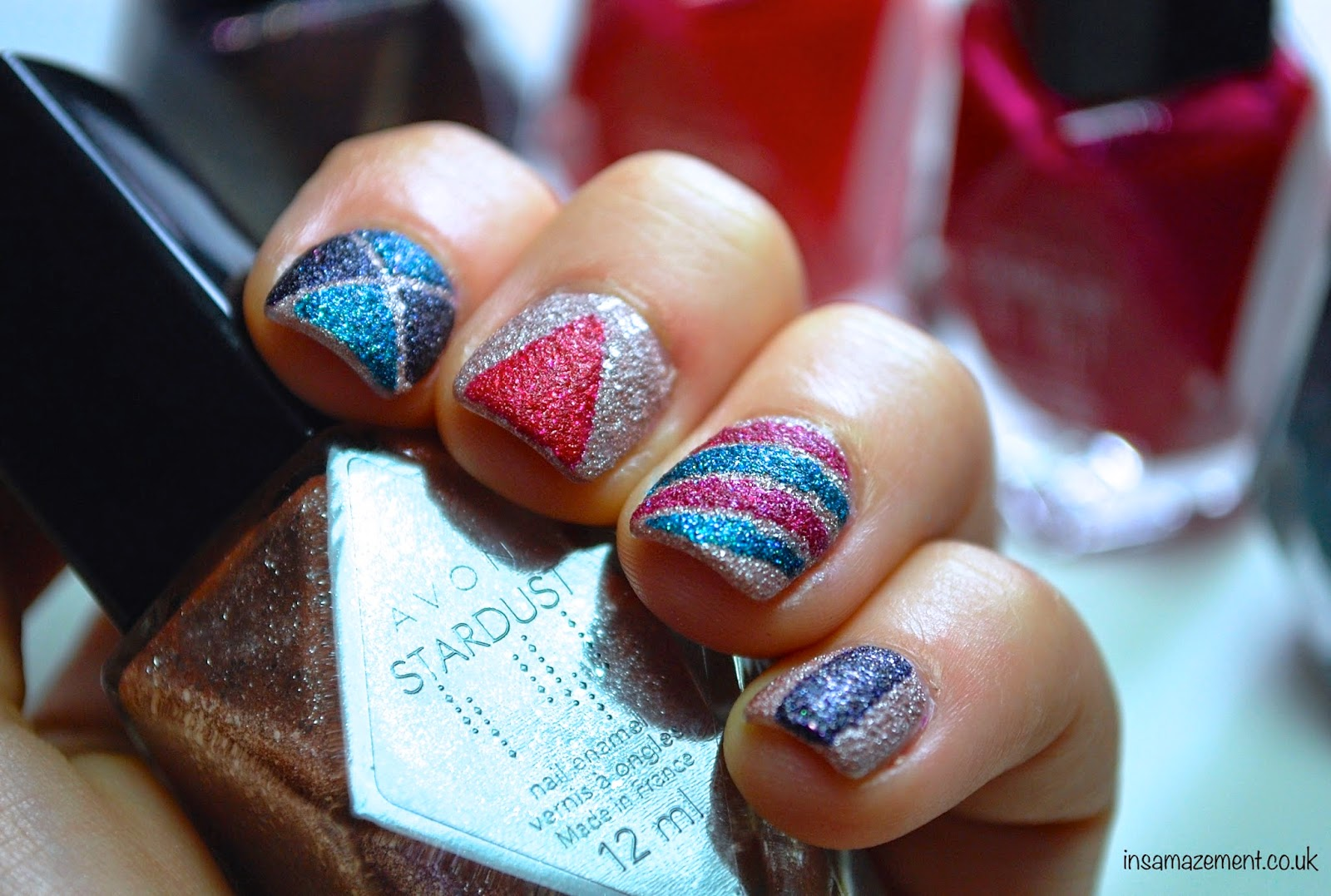 Avon Stardust Glitter Polishes Nail Art