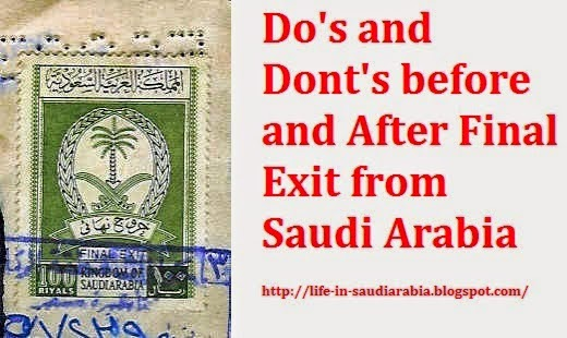 Procedure of Final Exit from Saudi Arabia  Life in Saudi Arabia
