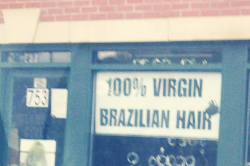 This is a thing: 100% Virgin Brazilian Hair