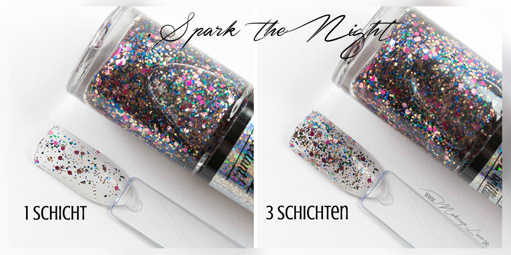 Maybelline Colorshow Nagellacke | BE brilliant! Kollektion spark the night swatch