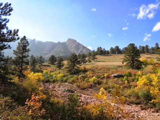 Flatirons, fall colors