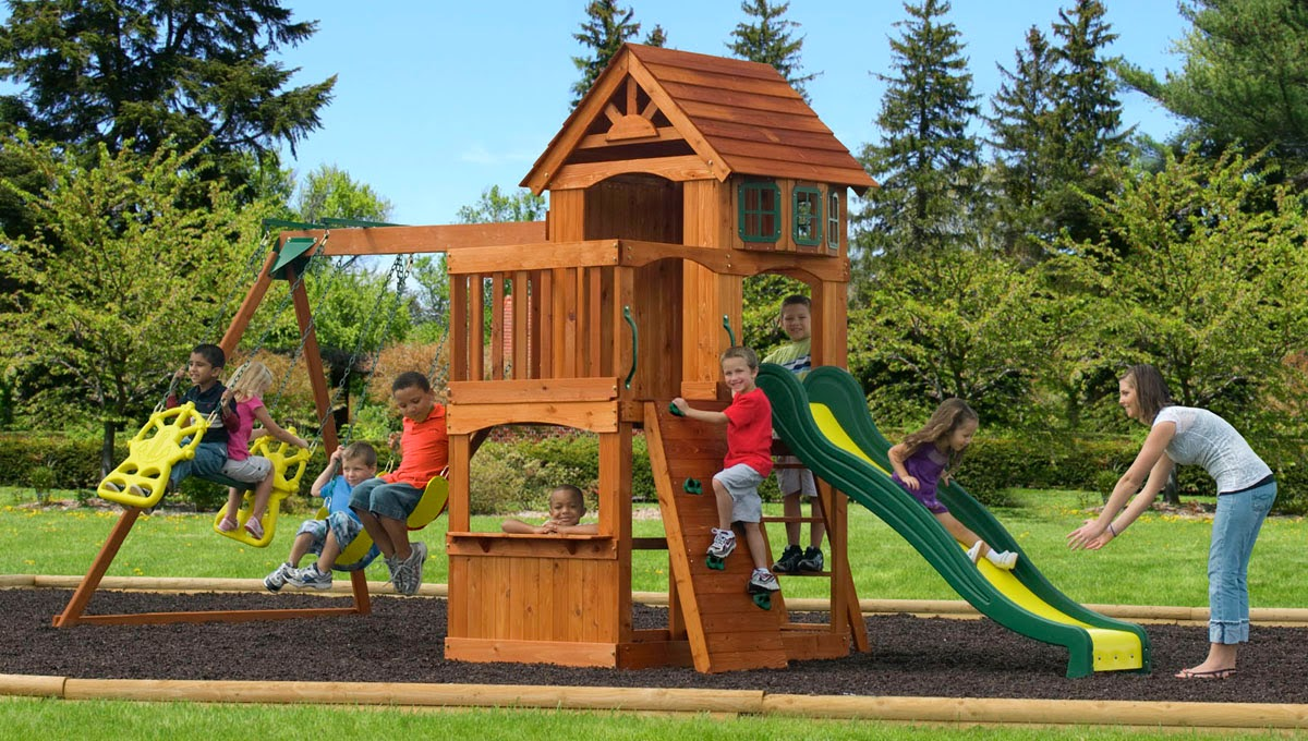 Play Sets Outdoor wooden2
