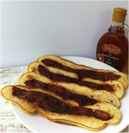 Bacon Strip Pancakes | Cookin' And Kickin'