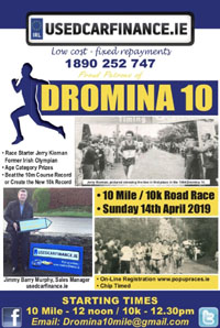 New 10 miler in N Cork - Sun 14th Apr 2019