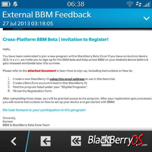 BBM running on Android