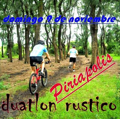 Duatlón rústico Piriaventuras (Piriápolis, 09/nov/2014)