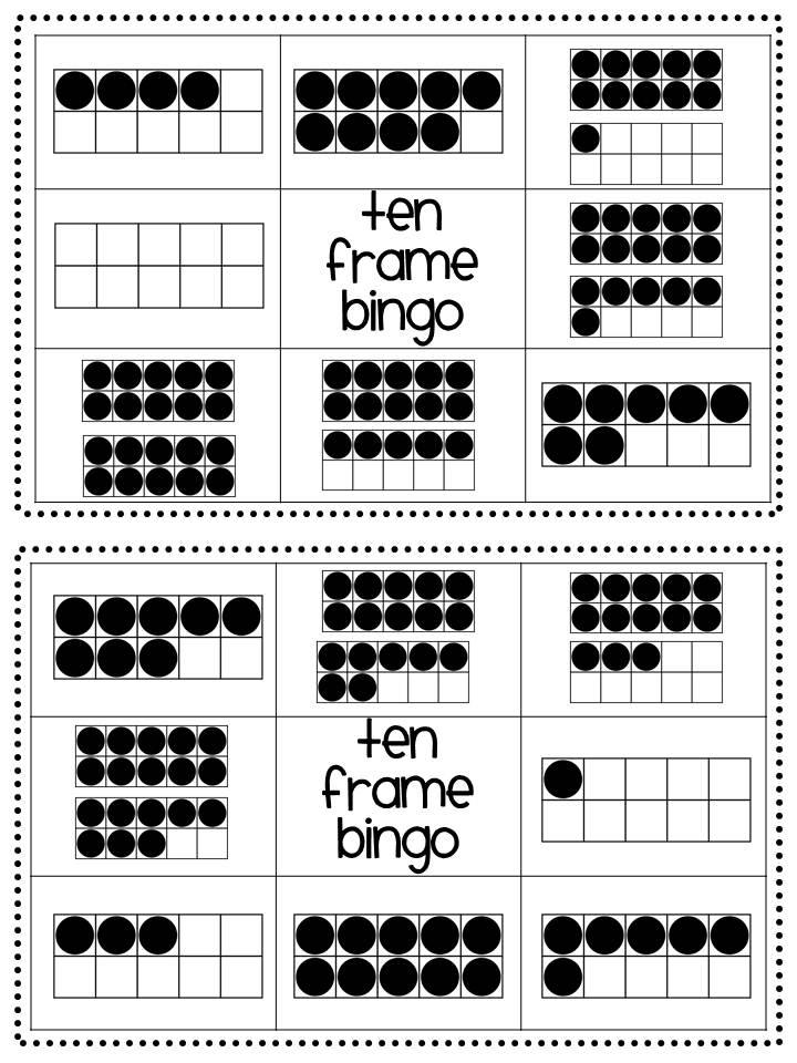 Heart Kindergarten: Let's Talk Ten Frames!