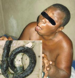 Photo: 70-year-old Woman has given birth to snakes 1
