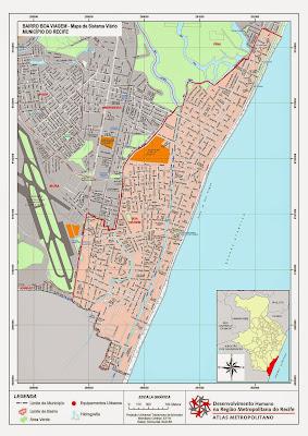 Mapa da Praia da Boa Viagem - Recife