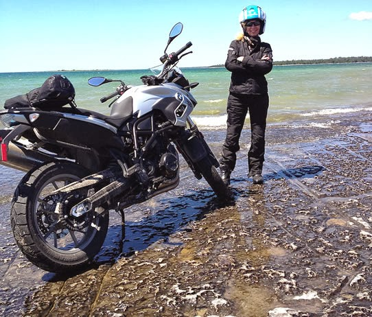Vicki Gray Ride Manitoulin BMW F700GS