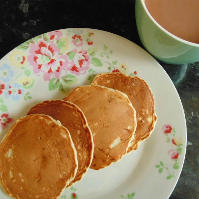 White chocolate chip pancakee