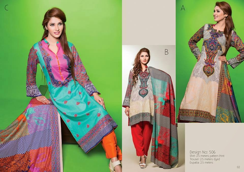 New lawn collection dresses 2015