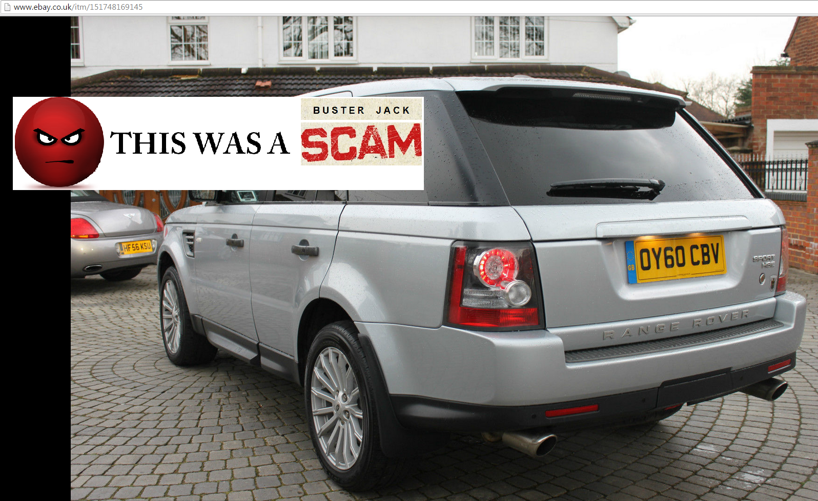 SCAM THAT EBAY FAILED TO REMOVE : 2010 LAND ROVER RANGE ROVER SPORT