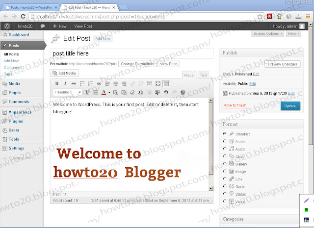 how to add new post in WP