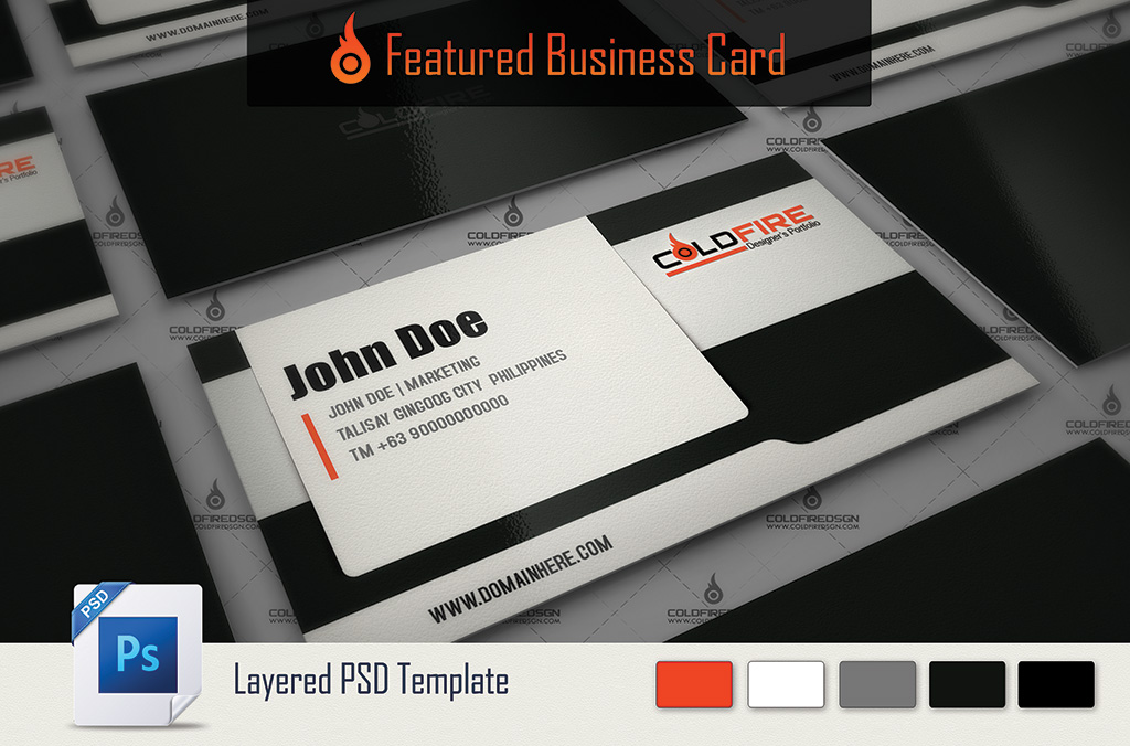 Featured Business Card Template