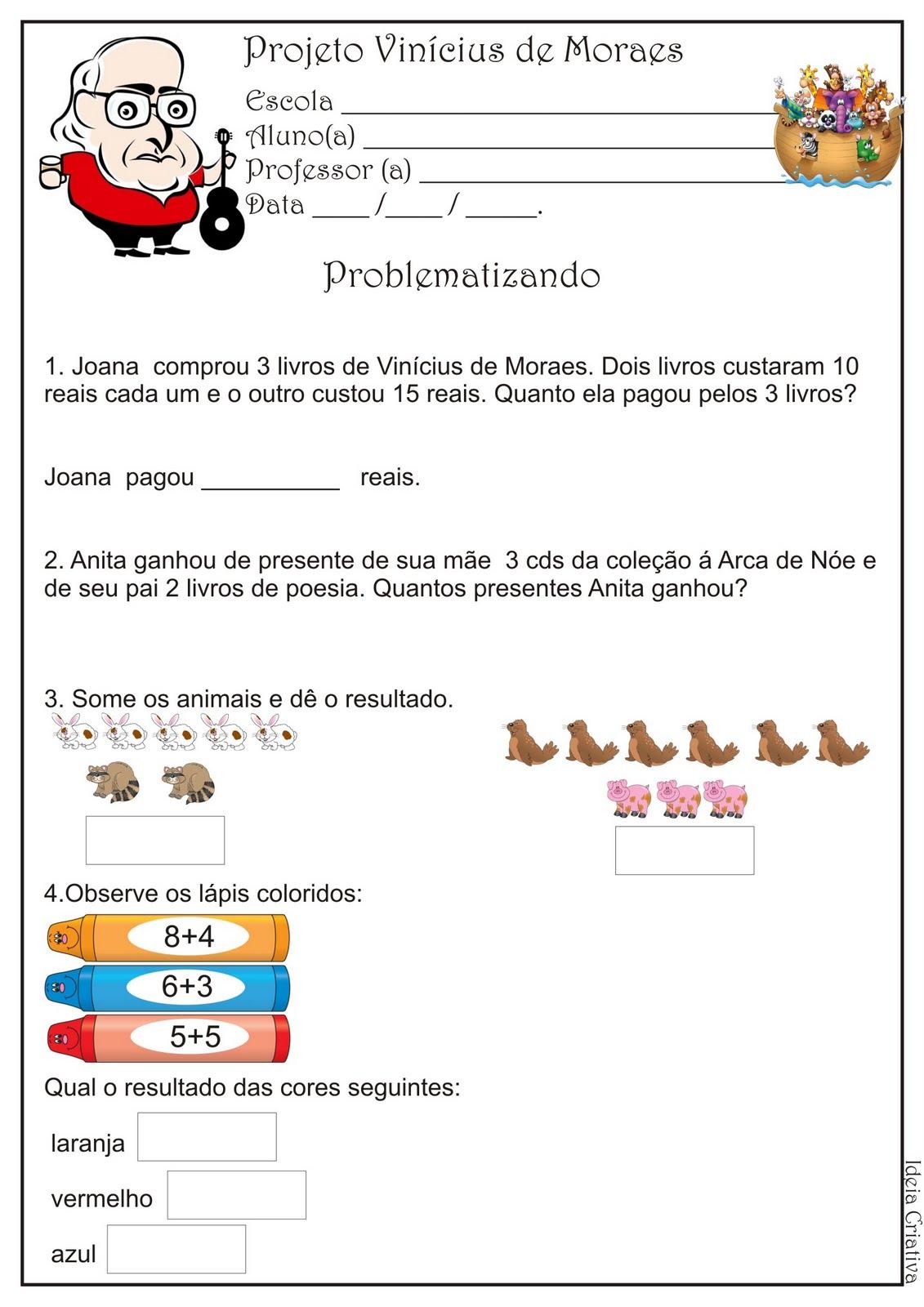 Probleminhas Projeto Vinícius de Moraes