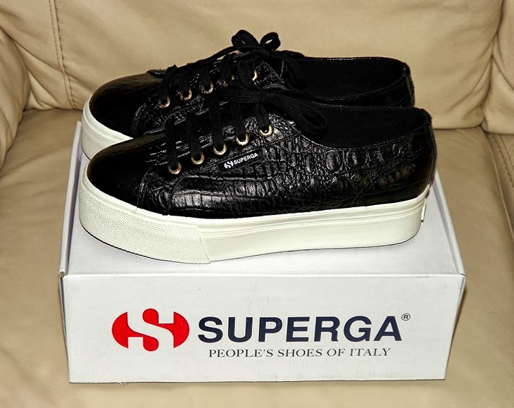 Superga for The Blonde Salad Chiara Ferragni Fashion Blogger Capsule Collection Superga coccodrillo Superga pelle Flatform scarpe zeppa