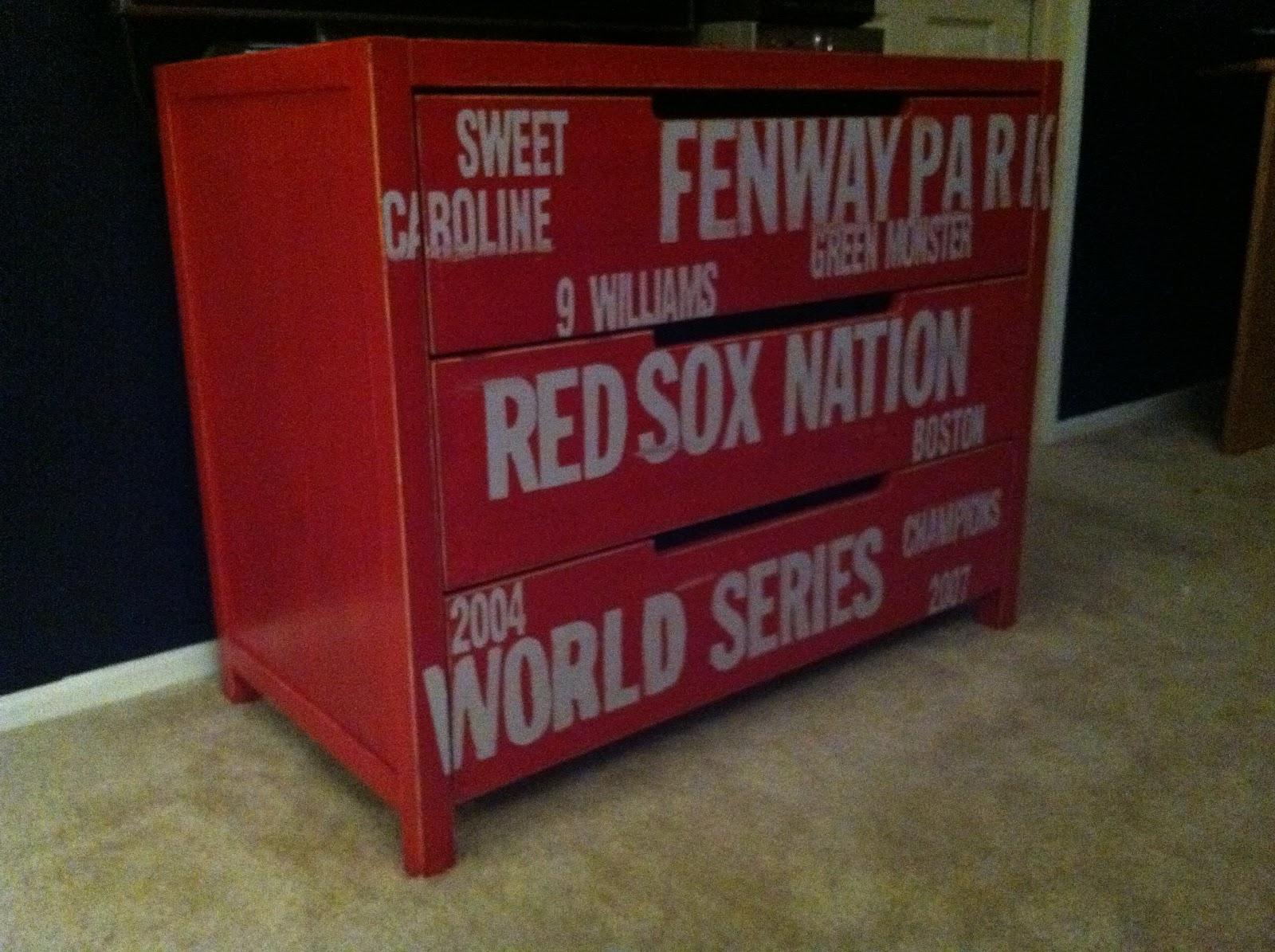 htttp   www hellolifeonline com  Subway  desser  red sox. Red Sox Dresser Ikea Hack
