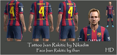 PES 2013 Ivan Rakitic Tattoo by Nikadim