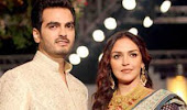 Esha Deol and Bharat Takhtani at Bridal Fashion Week 2012