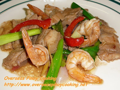 Pinoy Pork and Prawn Stirfry