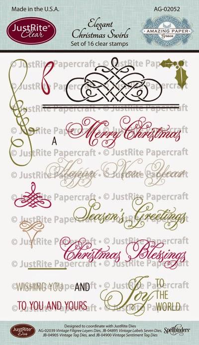 scraps of  my  life  justrite  elegant christmas swirls
