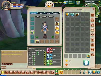 FairyLand 2 Online - Character Stats Window