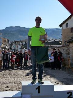 Primer clasificado local en el I Cross por Montaña Villa de Candelario Salamanca