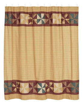 BJ'S Country Charm - Primitive Homespun Shower Curtains