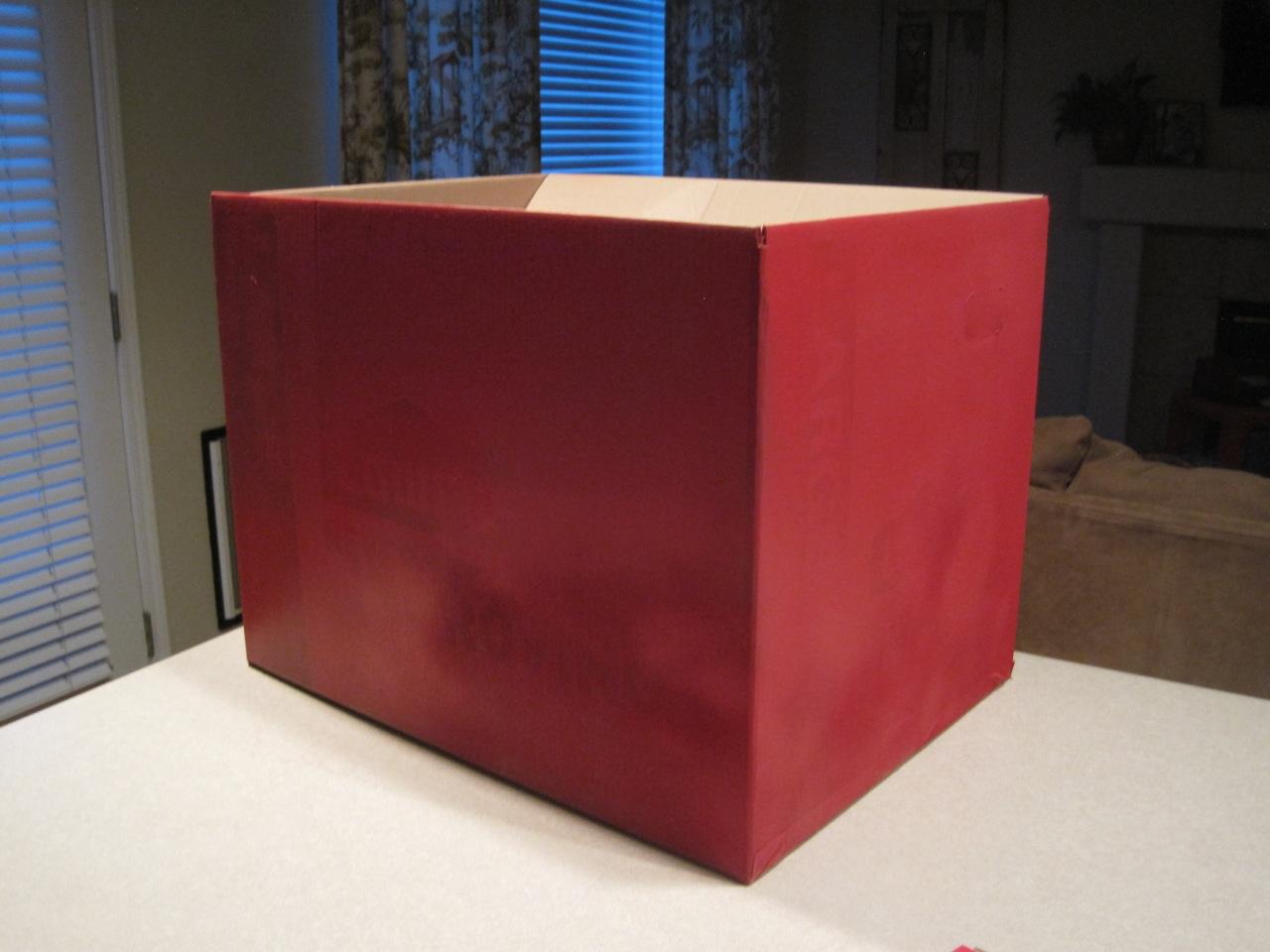 spray painted box. Black Bedroom Furniture Sets. Home Design Ideas