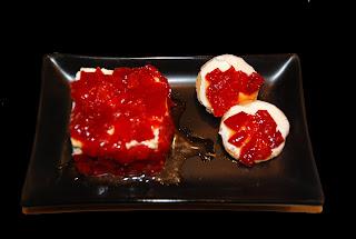 Mermelada de pimiento rojo con Queso Philadelphia Receta de entrantes de Cocina con Anibal