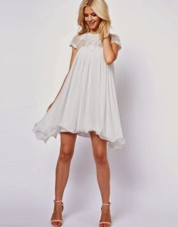 Lydia Bright Swing Dress With Cornelli Mesh