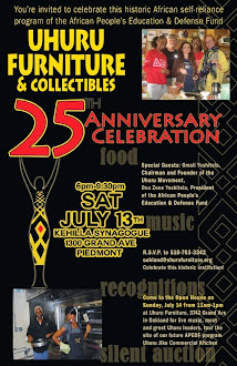 You Are Invited! Uhuru Furniture's 25th Anniversary Celebration Weekend!
