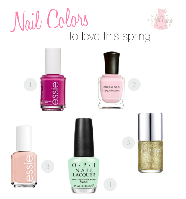 Our top 5 nail colors we are loving this season | blog.sassyshortcake.com