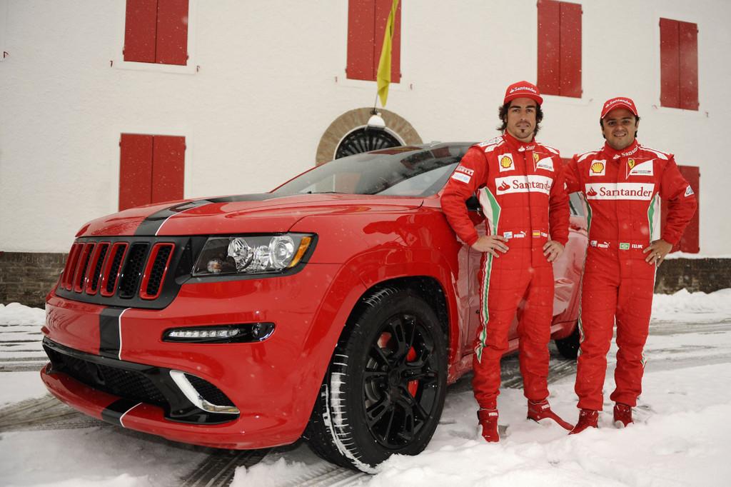 jeep grand cherokee srt8 in red for ferrari formula 1 drivers garage car. Black Bedroom Furniture Sets. Home Design Ideas
