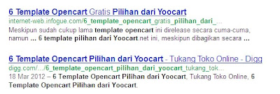 tampilan situs di google dari sosial bookmark